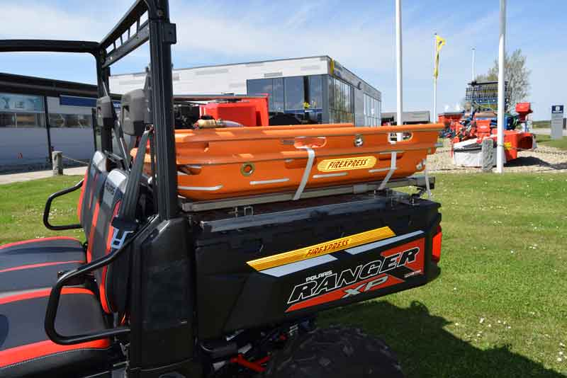 Polaris UTV Ranger udstyret som redningskoeretoej