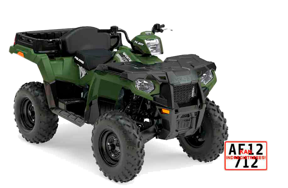 ATV Polaris sportsman 570 cc stærk ATV til arbejde og kørsel på vej