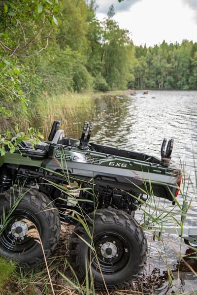 Polaris ATV Big Boss 6x6 hjuls træk, bagtøj er særligt velegnet til vanskeligt, vådt og sumpet terræn.