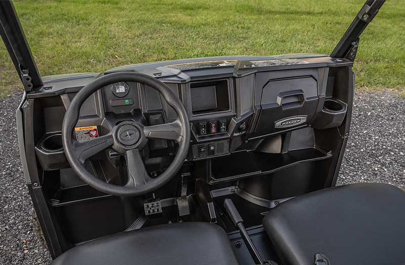 Polaris Ranger EL UTV. Praktisk og lydløs maskine til indendørs og udendørs brug. Langtrækkende EL maskine