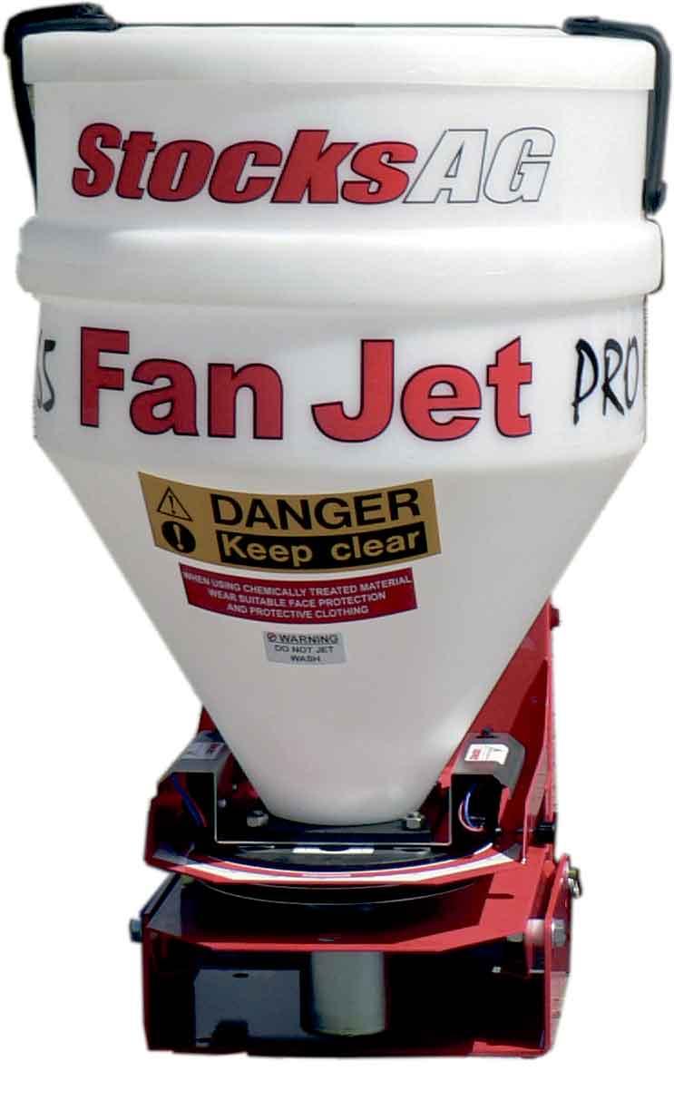 Fan Jet Universalspreder til ATV og UTV, spreder froe, goedning, sneglegift mm