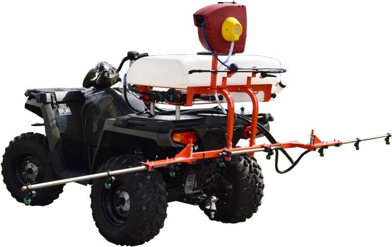 Polaris ATV med Kuhn 80 L sproejte. Hoej kvalitet og lang levetid