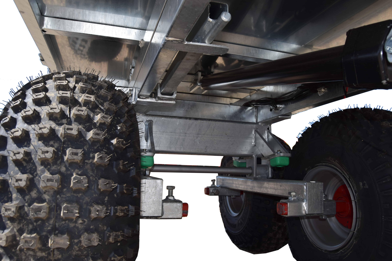 Polaris ATV vogn med gummi stødabsorbering i undervognen for bedre holdbarhed og komfort