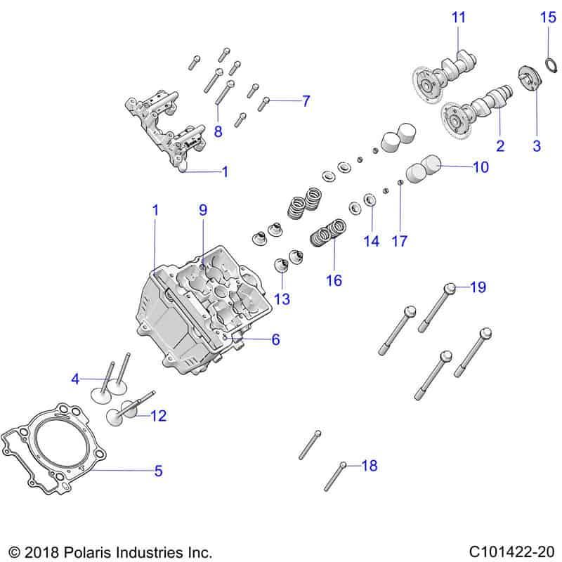 Reservedelstegning for Polaris ATV C101422-20. Godt reservedels overblik. Hurtig levering af dele