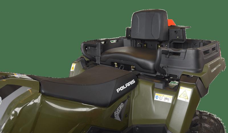 Polaris Sportsman 570 X2 med ekstra sæde så der er god plads til to personer