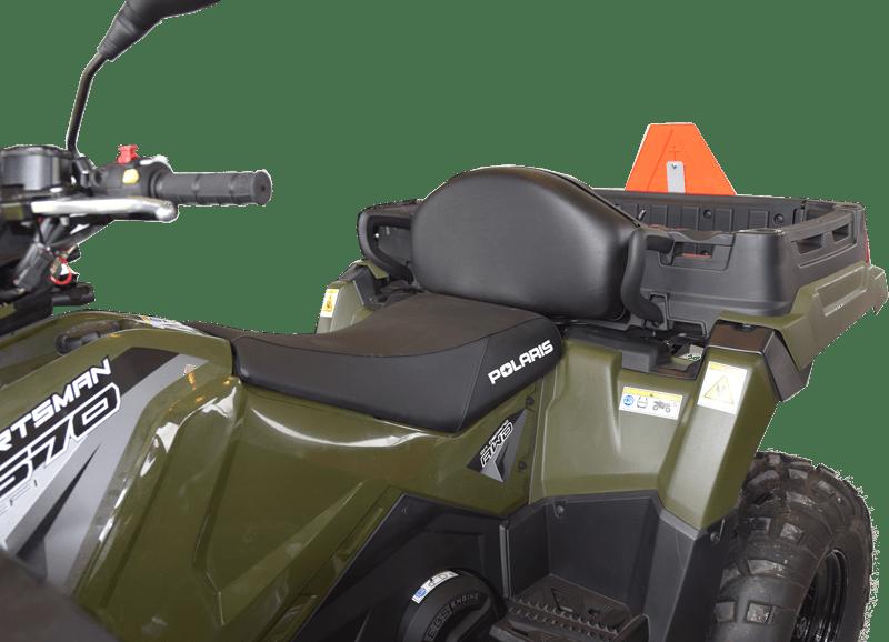 ATV med ekstra klapsæde så der er god plads til to personer