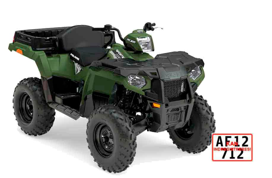 ATV på traktorplader til landbrug. Polaris Sportsman 570 X2 med lang levetid.
