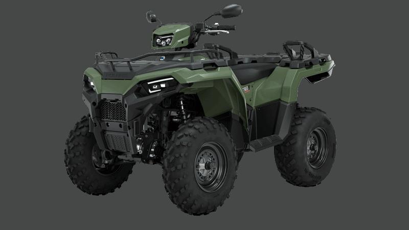 ATV på plader. Arbejds ATV med plads til to. Ekstra trækkraft og lastkapacitet.