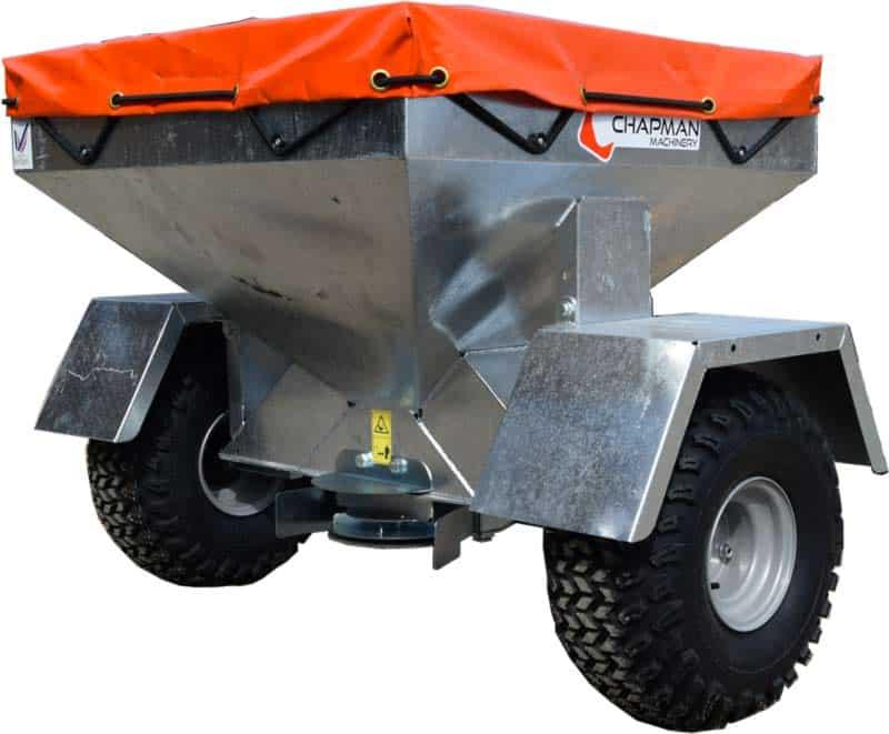 ATV Fodervogn til vildtfoder, fugle eller ligende. Tallerken spreder foderet.