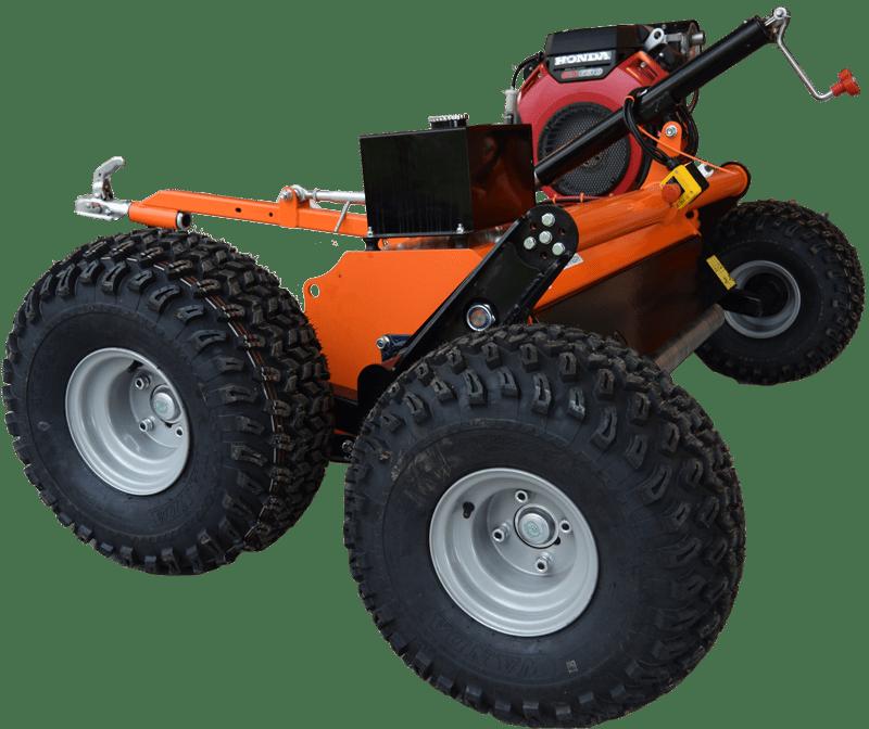 Chapman slagleklipper monteret med boogiehjul. Til ATV, UTV og minimaskiner.
