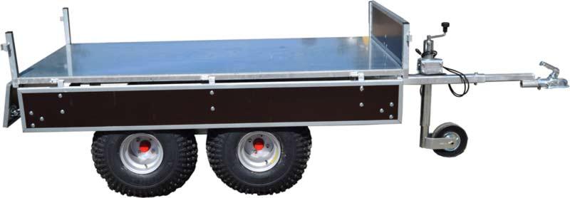 Solus ATV vogn med aftagelige sider. Kraftig terrængående vogn.