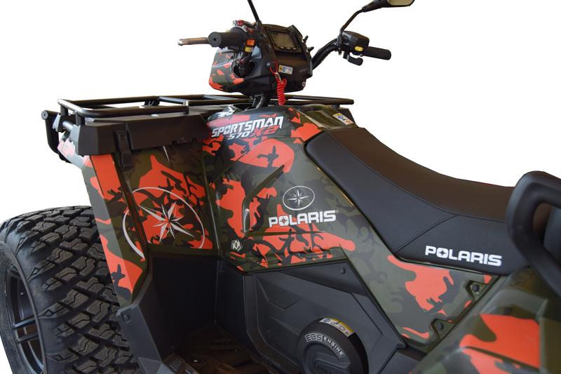 Specialdesignet grafik på Polaris ATV. Du kan selv bestemme hvordan din næste ATV skal se ud.
